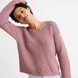 Madewell NWT Austen Pullover Sweater Berry XL
